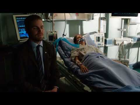 Arrow 6x01 Thea in coma and Slade leaves to find his son
