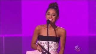 Ariana Grande Wins Favorite Female Pop/Rock Award at The AMA's 2015