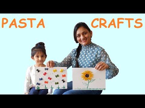 CREATIVE PASTA CRAFT   Art & Craft   Kids DIY    Small Kids Activity With Mishka   #FamilyFunShow