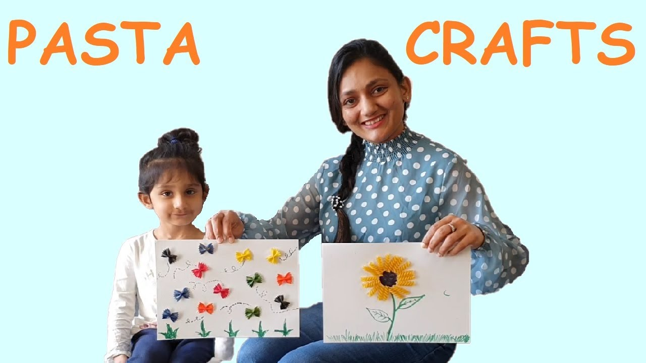 CREATIVE PASTA CRAFT | Art & Craft | Kids DIY  | Small Kids Activity with Mishka | #FamilyFunShow