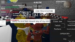 time in block bears roblox as foxy