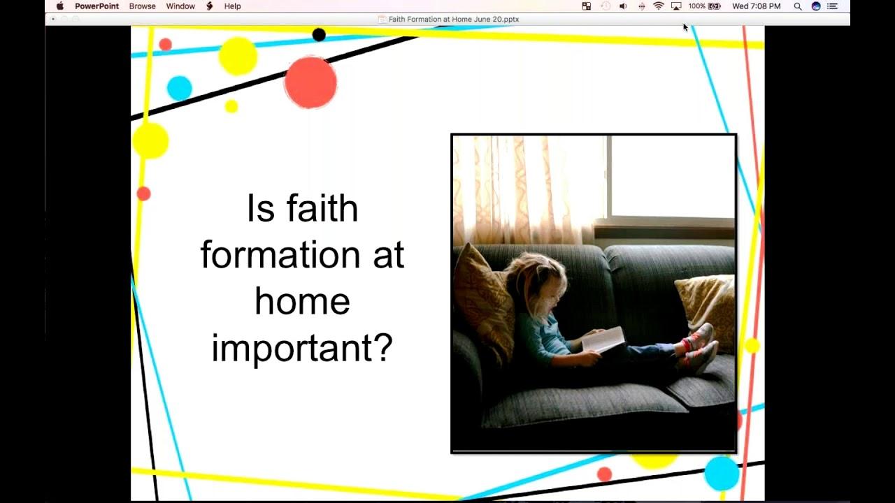 Summertime Faith Formation - YouTube