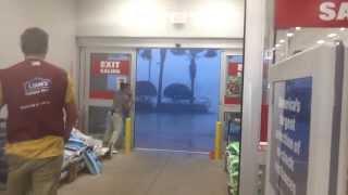 Possible Tornado Outside Lowes Orlando FL INTENSE