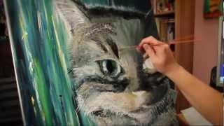 My speed painting - portrait of my cat Rambo