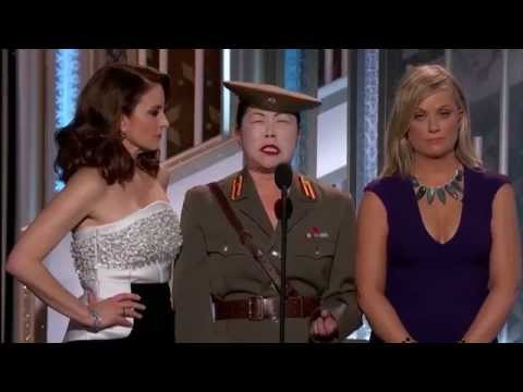 Margaret Cho mocks Kim jong-un at 2015 Golden Globes