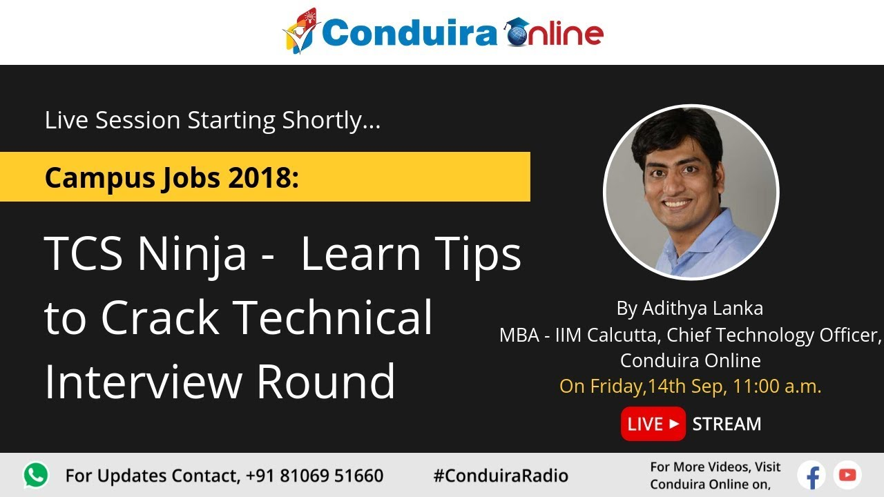 TCS Ninja - Learn Tips to Crack Technical Interview Round