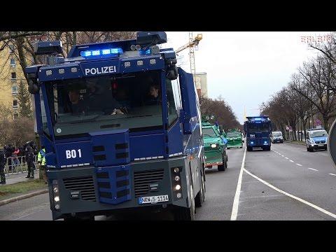Polizeigroßeinsatz wegen rechter und linker Demos in Leipzig am 18.03.2017