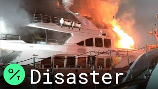 Marc Anthony's Luxury Yacht Erupts in Flames Off Florida Coast