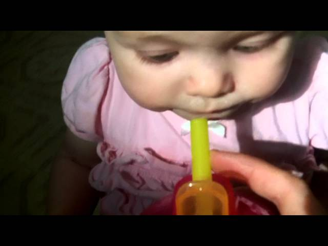 TEACHING YOUR BABY TO USE A STRAW Travel Video