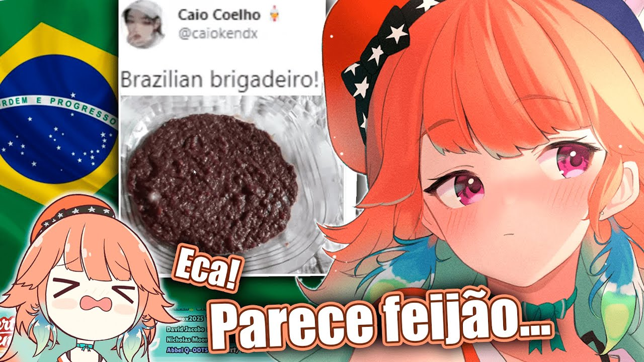 Kiara avalia o doce Brasileiro e pede nossa ajuda para dar o veredito final [Hololive EN sub BR]