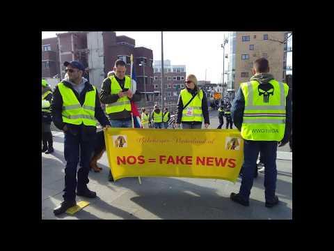 Stop fake news- La voix des manifestants néerlandais-Hilversum- 16/02/2018