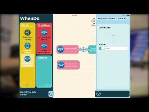 WhenDo for Vortex Demo - Graphic Programming via Bluetooth