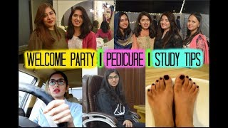 Welcome Party, Pedicure, Study Tips