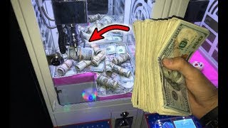 WON CA$H MONEY FROM MINI CLAW MACHINE! | JOYSTICK
