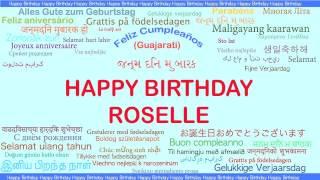 Roselle   Languages Idiomas - Happy Birthday