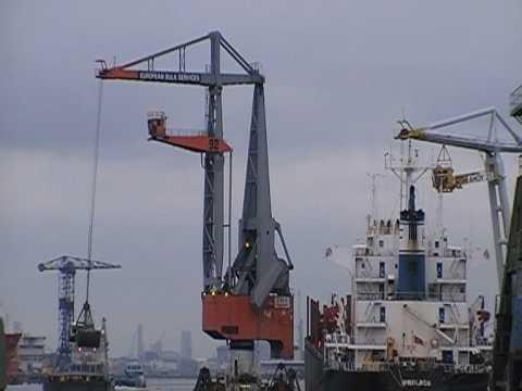 harbor... figee 92 floating crane