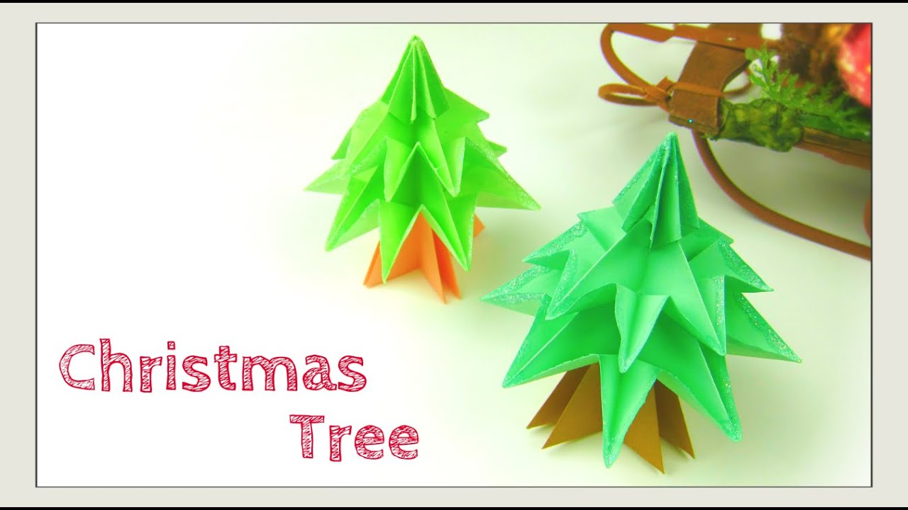How To Make Christmas Tree Ornaments Out Of Construction Paper : Christmas crafts origami tree modular