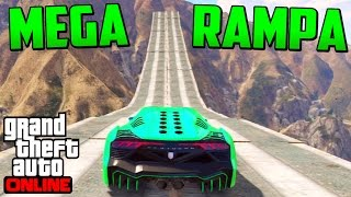 MEGA RAMPA INCREÍBLE!! GIGANTE!! - Gameplay GTA 5 Online Funny Moments