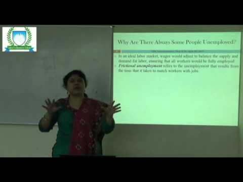 A Lecture on UNEMPLOYMENT by Dr. JAYITA BIT, Calcutta Business School