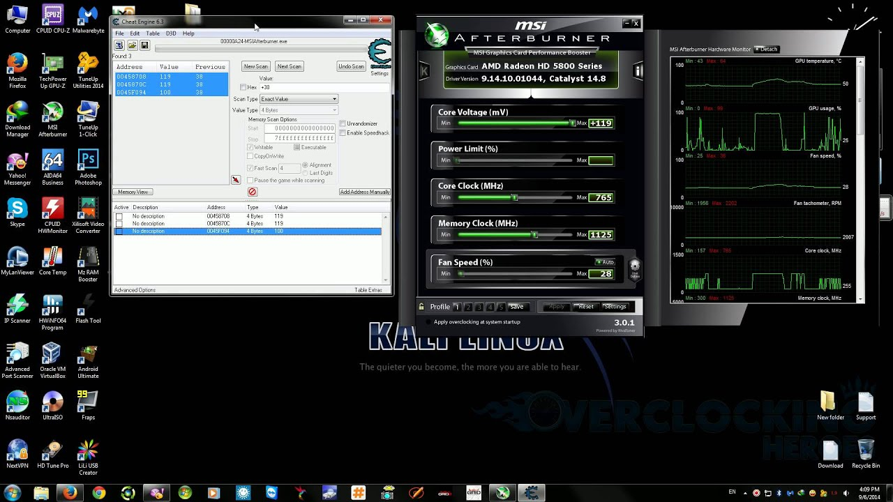 [TUT]Unlock MSI AfterBurner Voltage Limit with Cheat Engine