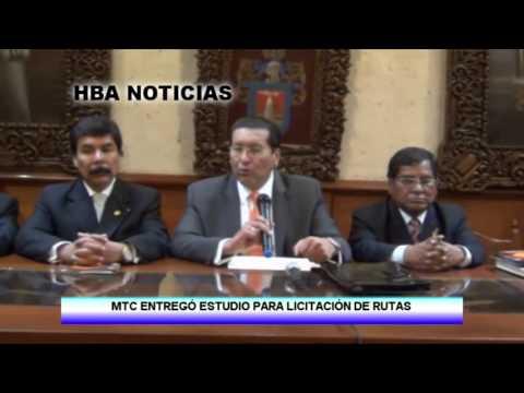 Baixar MTC ENTREGÓ ESTUDIO DE LICITACIÓN DE RUTAS A AREQUIPA - HBA NOTICIAS 2014