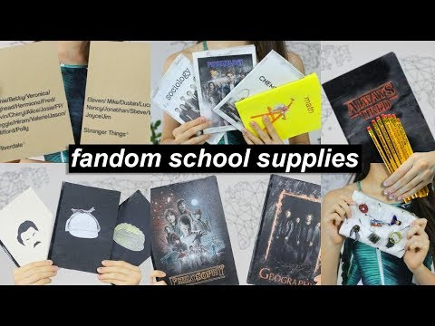 DIY Fandom School Supplies for Back to School