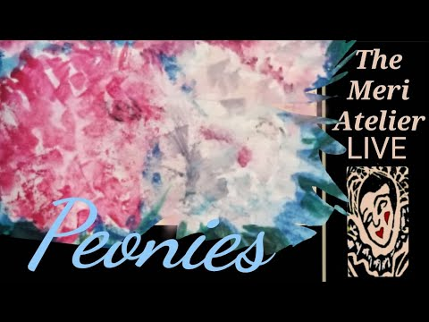 Early Mornings With Meri, Watercolor, Peonies, Pet Portrait, ICADS, Cards