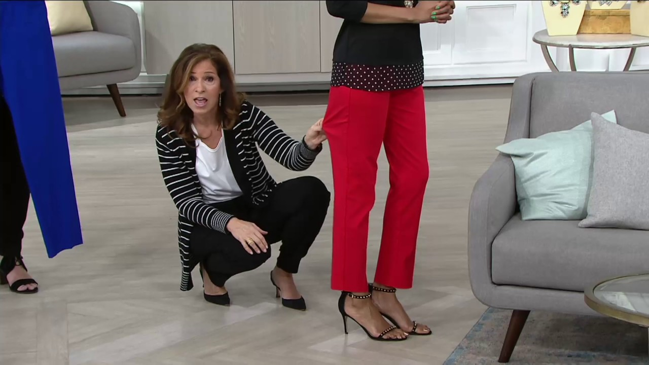 Susan Graver Ultra Stretch Pull On Slim Leg Pants On Qvc Youtube