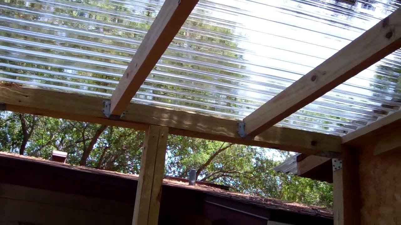 Paint room build polycarbonate roof 2 youtube - Plaque polycarbonate transparente ...
