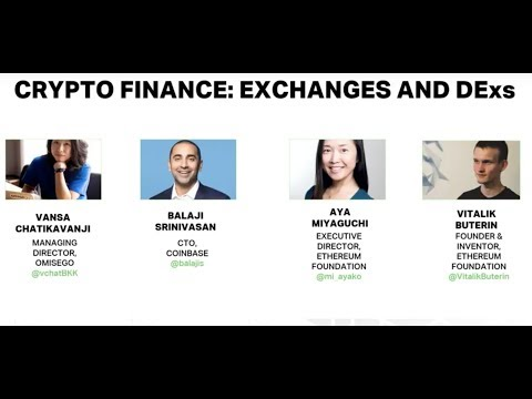 Crypto-finance: Exchanges & DExs At The Ethereum Meetup 2018
