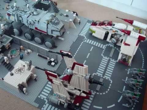 Lego Star Wars Clone Base Moc Youtube