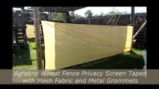 Agfabric Wheat Fence Privacy Screen Taped with Mesh Fabric and Metal Grommets