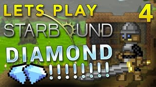 Lets Play Starbound - Ep 4 - Diamond!