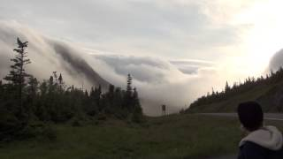 Gros Morne National Park - Fog rolling in over Tablelands, part 2