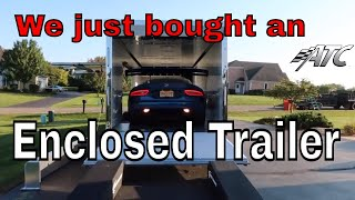 We bought a new ATC Quest enclosed trailer!