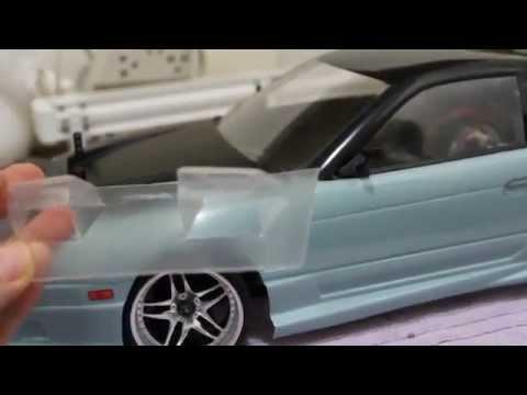Como fazer/How to: FLIP UP lights - Yokomo 180SX