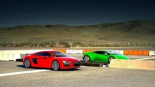 Audi R8 V10 Plus vs. Lamborghini Huracán Drag Race | Forza 6