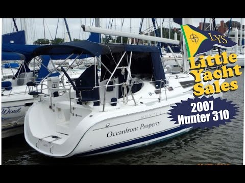 SOLD!!! 2007 Hunter 310 Sailboat for sale at Little Yacht Sales Kemah Texas