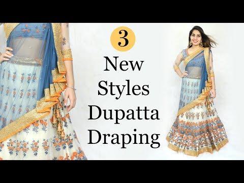 3 New Styles Of Dupatta Draping - How To Wear Lehenga Perfectly | Anaysa