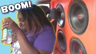 Lady Almost PUKES From LOUD BASS System! FUNNY Car Audio Demos & EXTREME SPL Subwoofer SMASHUP