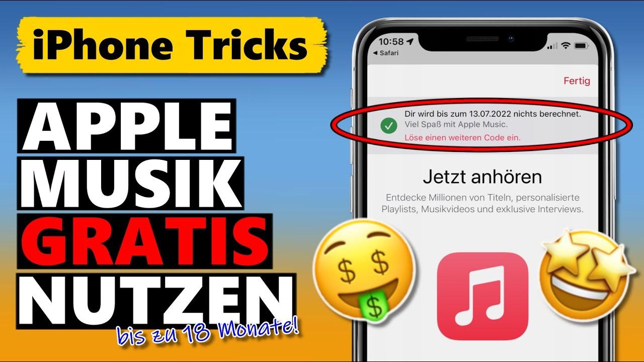 Apple Music KOSTENLOS nutzen - bis zu 18 MONATE über Gratis-Codes 🤑