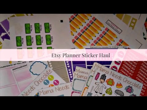 Etsy Sticker Haul! More super affordable stickers!
