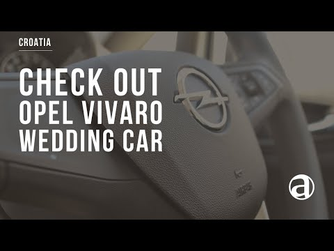 Wedding Car for Hire | New Opel Vivaro | Weddings in Croatia antropoti