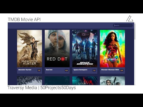 Movie app based on TMDB API   Day 17   HTML CSS JS   50Projects50Days