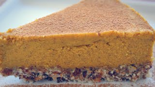"PUMPKIN PIE ""CHEESECAKE"" RECIPE (Gluten Free + Dairy Free) Thumbnail"