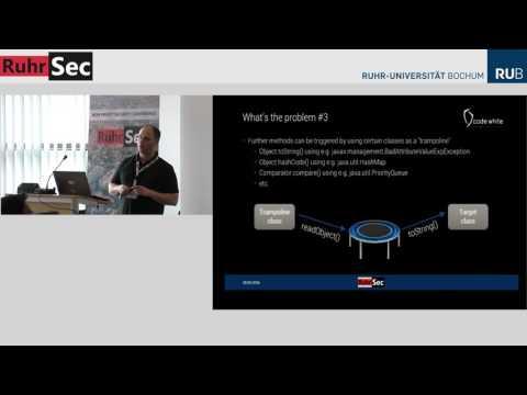 """RuhrSec 2016: """"Java deserialization vulnerabilities - The forgotten bug class"""", Matthias Kaiser"""