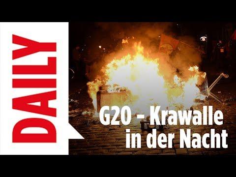 G20 in Hamburg - Bilanz der 1. Krawall-Nacht / BILD Daily Spezial live