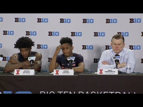 Illinois Big Ten Tournament Press Conference vs. Iowa | 2/28/18