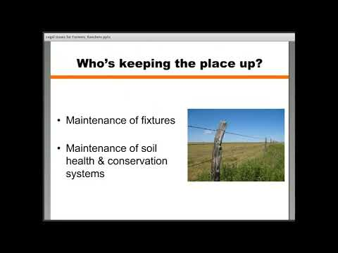 Legal Issues for Farmers/Ranchers: Basics of Lease Agreements