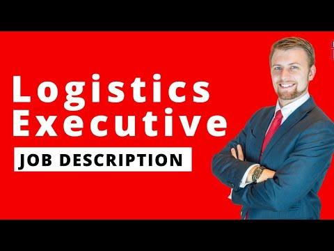 #logistics #logisticsexecutive #joboflogisticexecutive Logistics executive job description